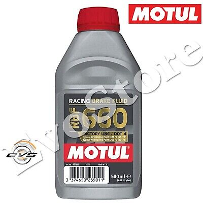 MOTUL RBF 660 DOT4 Factory Racing Olio Liquido Freni Auto Moto 100% SINT 500ml
