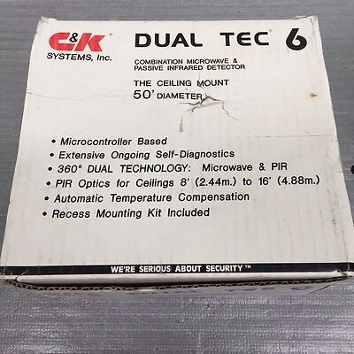 C&K Systems Dual TEC 6 Motion Detector (New)