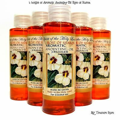 5 Bottles Rose of Sharon Aromatic Anointing Oil Blessed in Jerusalem 2 fl oz Lot