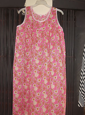 Women Floral Print /Pain Color Cotton Night Dress