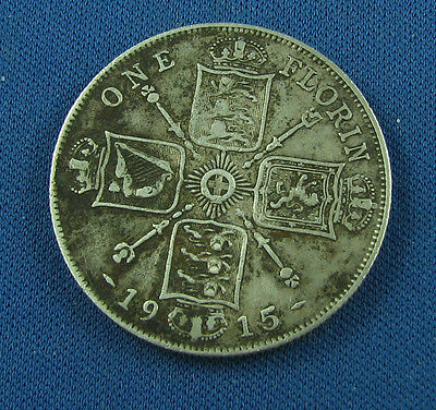1915 Florin Great Britain very nice coin
