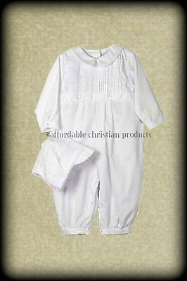 NWT Boys Knicker and Bonnet Petit Ami  Baptism LDS Blessing Long  STORE CLOSING