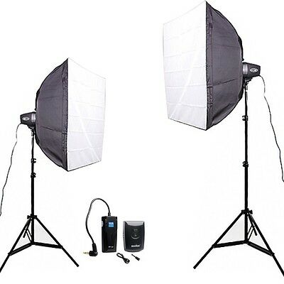 Godox 300Ws 2* 150W photo Studio Strobe Photo Lighting stand Softbox Trigger Kit