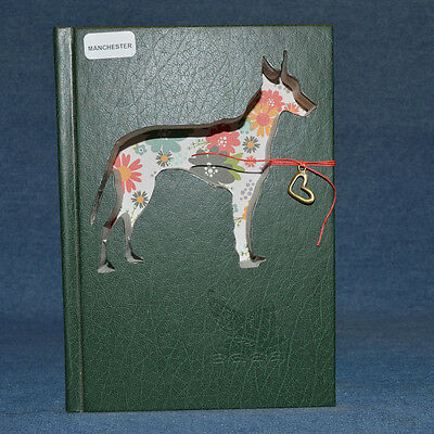 Manchester Terrier Upcycled Book - 001