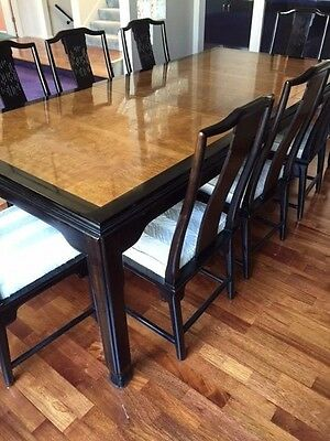 Vintage Century Furniture Chin Hua Dining Room Table & 8 Chairs Raymond Sobota