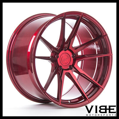 """20"""" Rohana Rf2 Red Forged Concave Wheels Rims Fits Ford Mustang Gt"""
