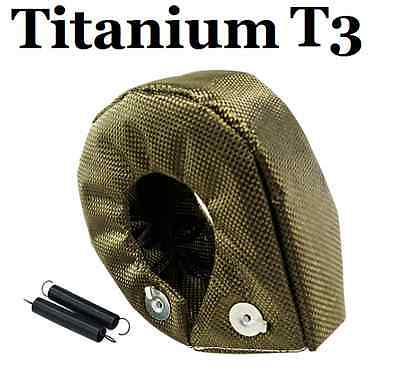 T3 T3/T4 GT30/GT35 Turbo Titanium Heat Protection Shield Blanket Housing Cover