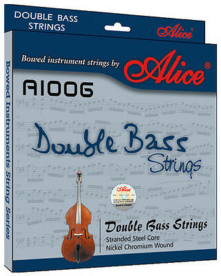 5 Strings Double bass strings Steel Core Nickel Chromium Wound A1006 Alice