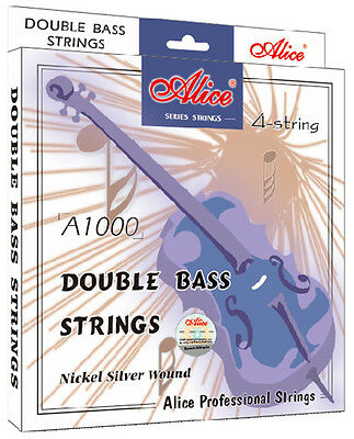 Double bass strings Steel Core Nickel Silver Wound Alice A1000
