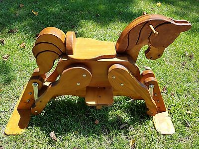 Beautiful Hand-Crafted Wooden Glider Rocking Horse