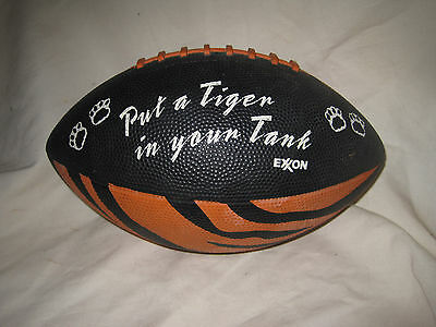 Exxon Rubber Football Put a Tiger in Your Tank Black Orange Stripes