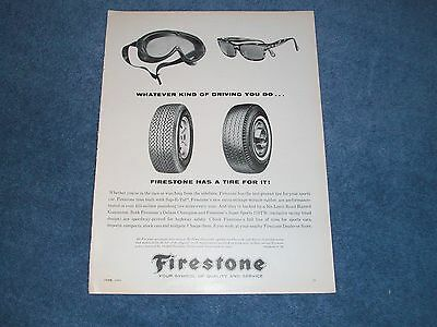"""1964 Firestone Vintage Ad """"Whatever Kind of Driving You Do..."""""""