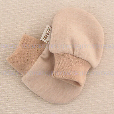 Newborn Baby Boys Girls 100% Organic Cotton Anti-scratch Gloves Shoes 0-4 month