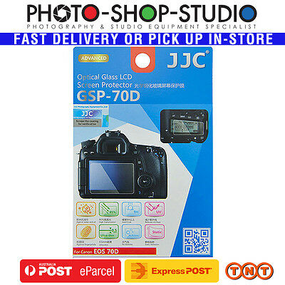 JJC Ultra-Thin Optical Glass LCD Screen Protector GSP-70D for Canon 70D (Adhesiv