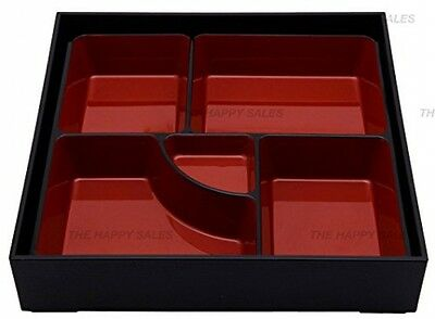Lacquer Bento Lunch Box W/ Tray