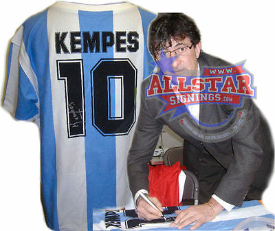 Mario Kempes Signed Argentina 1978 World Cup Shirt See Proof