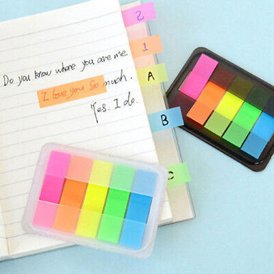 Fluorescen Sticker Memo Flags Bookmark Index Pad Sticky Notes Cute VNC