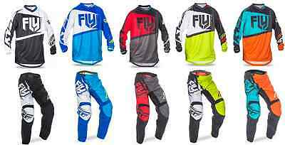 2017 Fly Racing F-16 Adult Jersey & Pant Riding Gear Combo Set Mx Atv Dirt Bike