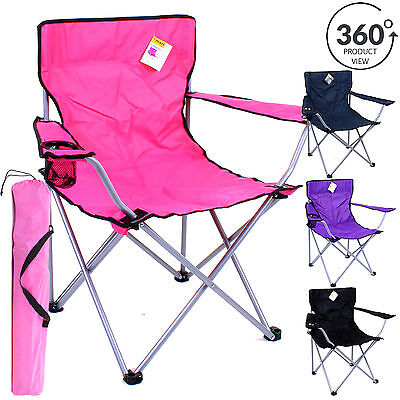 Folding Camping Chair Festival Hiking Fishing Garden Indoor Outdoor Seat Garden