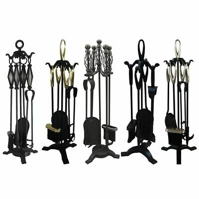 4 5 Piece Companion Sets Fireplace Fire Accessory Cast Iron By Home Discount
