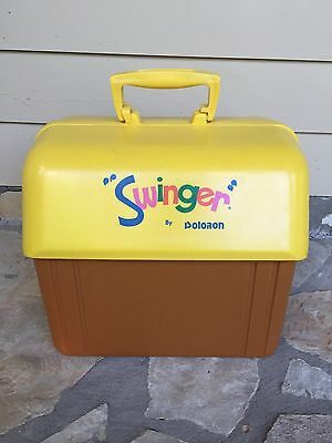 Swinger by Poloron USA Lunch 12 Pack Mid Century Beer Pop Cooler Yellow