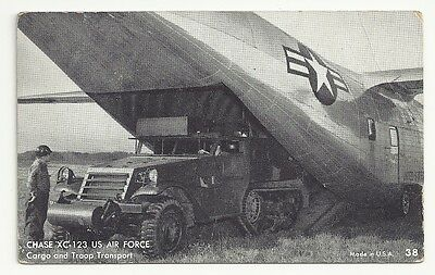 Chase XC-123 US Air Force Cargo Troop Transport Unposted Vintage Postcard