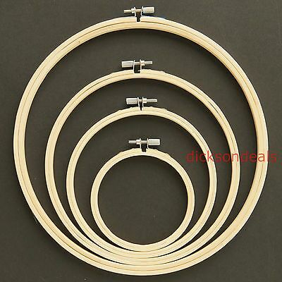 """Budget Wooden Bamboo Embroidery Cross Stitch Ring Hoop Frame  from 3"""" to 10"""""""