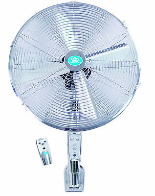 "EH1574 16"" (40 cm) Chrome Wall Fan with Remote Control and Timer"