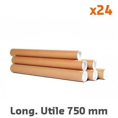 Tube rond en carton Ø int. 60 mm Long. Utile 750 mm (par 24)