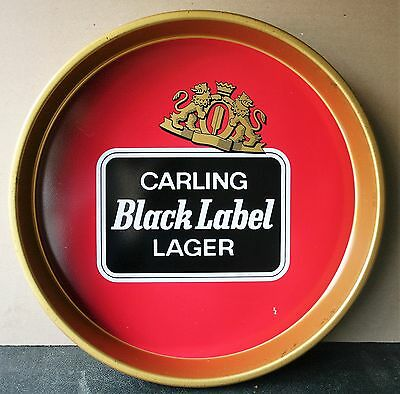 Carling Black Label Lager 1970's Advertising Pub Bar Beer drinks tray Retro
