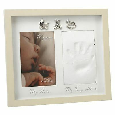 Juliana MDF Hand Print With 3 Icons Newborn Baby Picture Photo Frame Gift