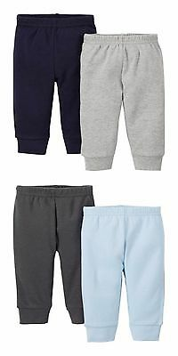 Carter's Infant Toddler Baby Boy Jersey Pants 2 Pack Navy Blue Grey 3-6 M 6-12M