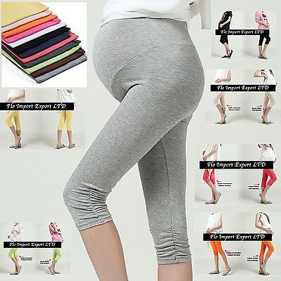 Leggings Premaman Pantaloni Capri Morbidi Soft Leggings Maternity Wear MWP001