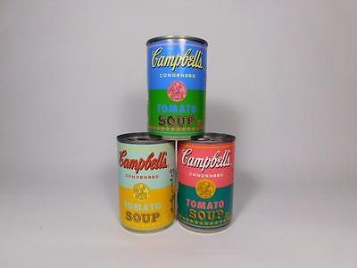 Andy Warhol 2012 50th Anniversary Target Campbell's Soup Set of 3 Pop Art Cans