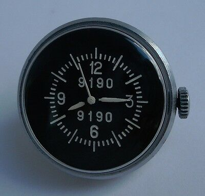 Rare USSR Soviet Air Force aircraft gun camera clock watch ZIM «button» 9190