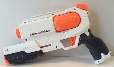 "Nerf Super Soaker Point Break Water Gun Pistol WORKs GREAT! 10"" White Clean EUC"