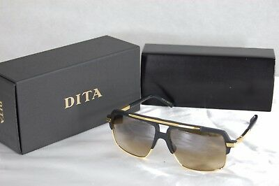 Dita Mach Four Titanium Drx 2070-A-Blk Matte Black 18K Gold&brown  Sunglasses