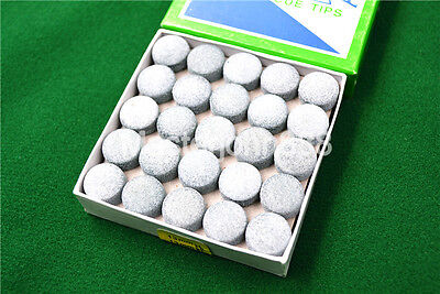 Box of 50pcs Glue-on Pool Billiards Snooker Cue Tips 13mm Free Shipping