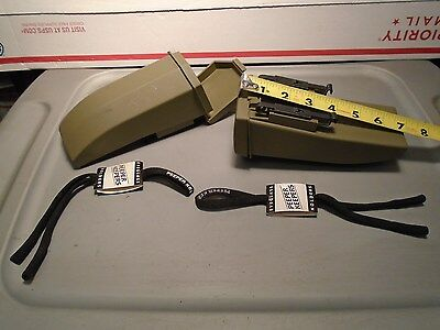 2 Genuine Usgi Military Safety Balistic Glasses Cases Only With Keepers New O-20