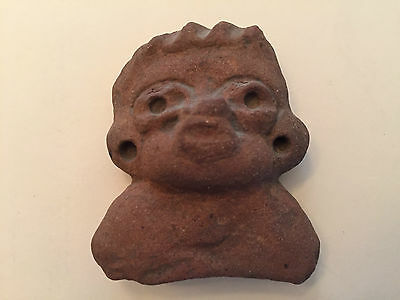Pre-Columbian Small Terracotta Head Figure, With Numbered Markings