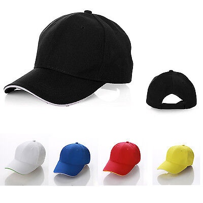 Plain Fitted Baseball Golf Cap Curved Visor Solid Blank Color Cap Hat Convenient