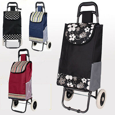 Shopping Cart Carts Trolley Bag Foldable Market Luggage Wheels Collapsible NEW