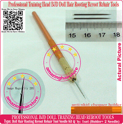 MLP Barbie BJD Doll Hair Rooting Reroot Reborn Needle Tools Training Head Needle