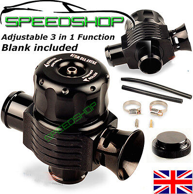 25MM UNIVERSAL DUAL PORT TURBO BOV DIVERTER DUMP BLOW OFF VALVE fit VW Audi Seat