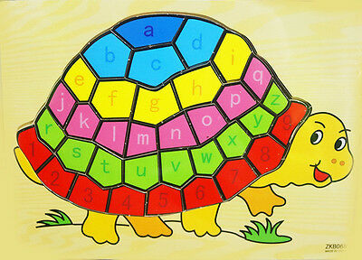 New Kids Wooden Puzzle Turtle Xmas Educational Toys Christmas Gift Jigsaw