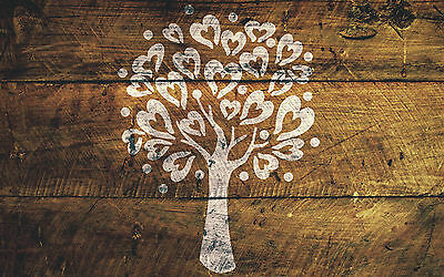 A4 Love Tree Stencil Shabby Chic Furniture Fabric Ornate French Vintage MYLAR