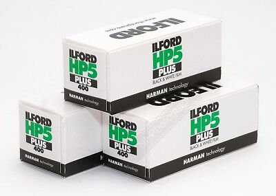 Ilford HP5+ 400asa Black & White 120 Roll Film 3 Rolls Expiry Date 10/2021