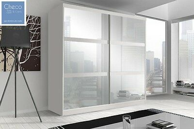 BRAND NEW MODERN BEDROOM SLIDING DOOR WARDROBE 7 ft (203cm) - CHOICE OF FRONTS