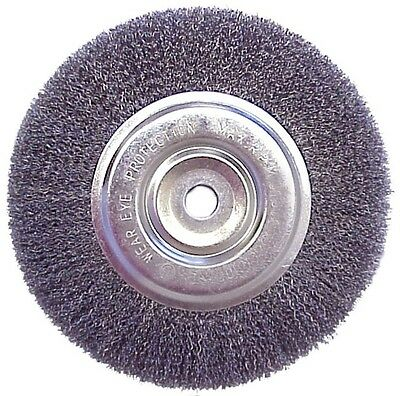 """Replacement 6"""" Inch Diameter Wire Brush Wheel for Bench Grinder"""