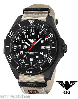 KHS Tactical Watches Infantry Men's Military Watch Analog Date NatoEU XTAC Band
